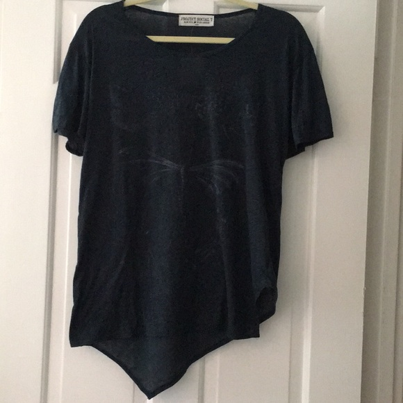 Urban Outfitters Tops - Project Social T Butterfly/Dragonfly Blue T-Shirt
